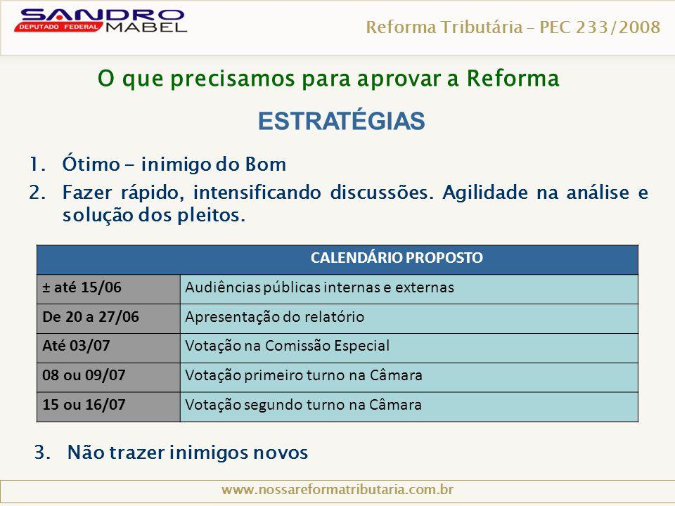 O que precisamos para aprovar a Reforma