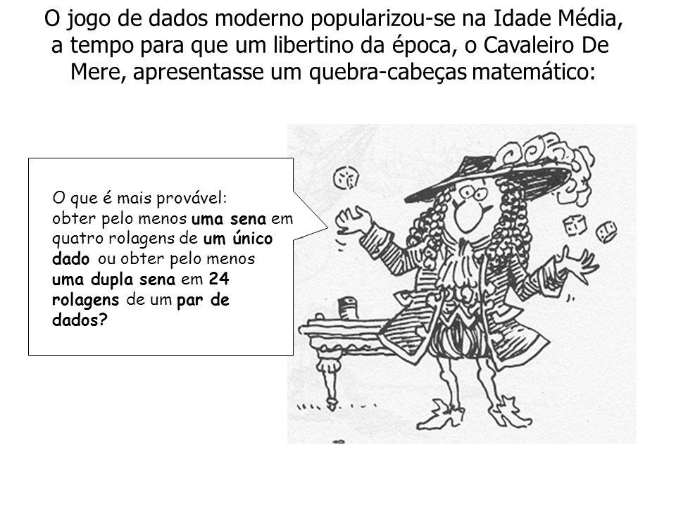 O jogo de dados moderno popularizou-se na Idade Média,