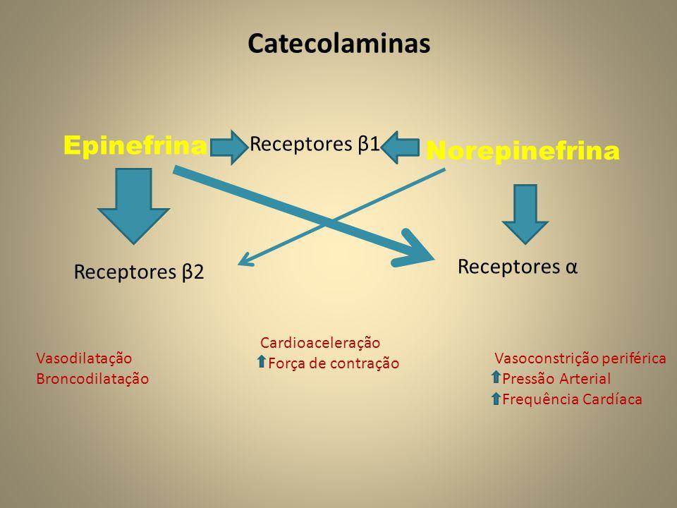 Catecolaminas Epinefrina Norepinefrina Receptores β1 Receptores α