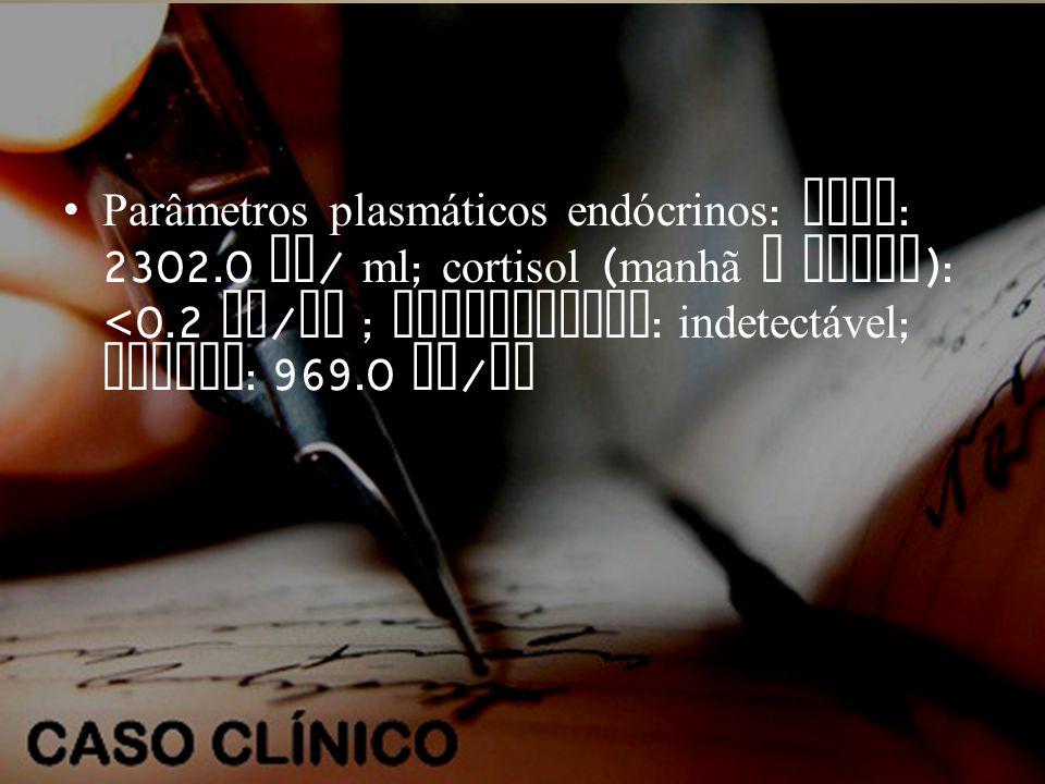 Parâmetros plasmáticos endócrinos: ACTH: 2302