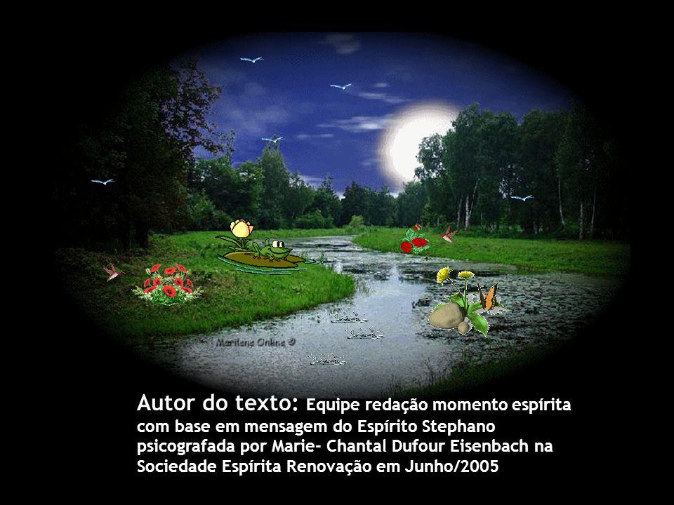 Autor do texto: Equipe redação momento espírita com base em mensagem do Espírito Stephano psicografada por Marie- Chantal Dufour Eisenbach na Sociedade Espírita Renovação em Junho/2005