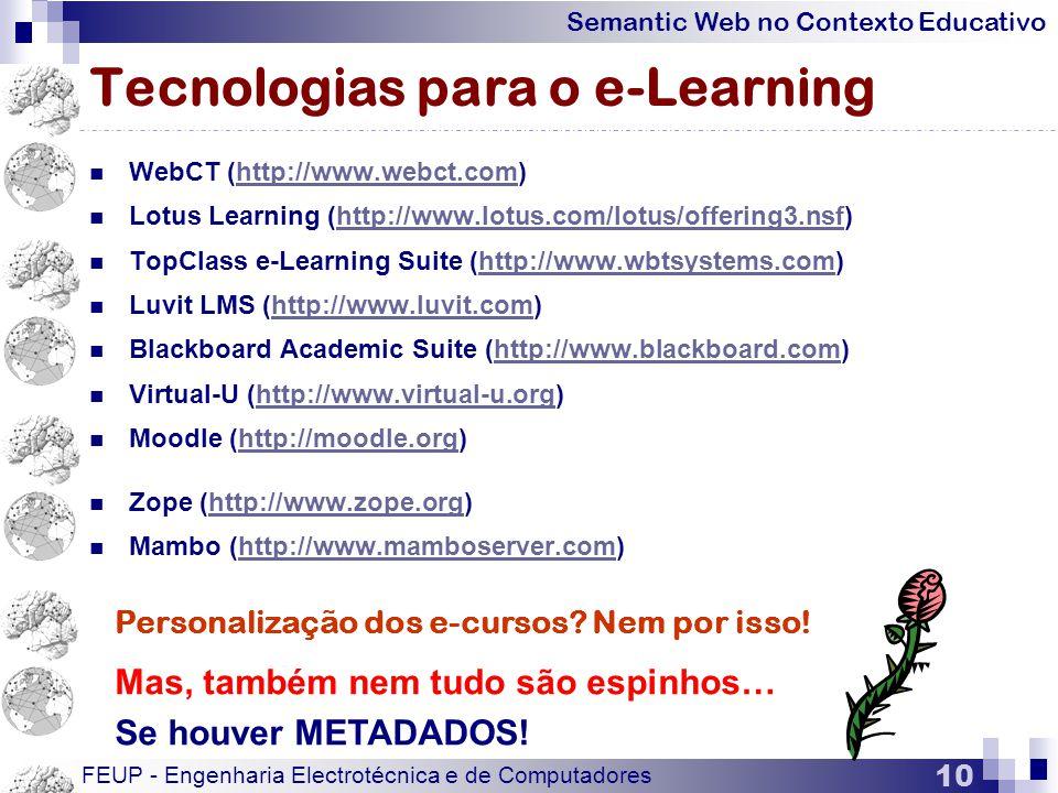 Tecnologias para o e-Learning