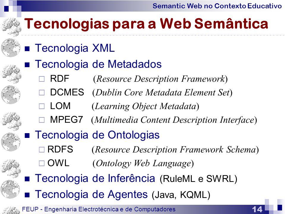Tecnologias para a Web Semântica