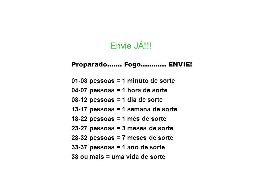 Envie JÁ!!! Preparado....... Fogo............ ENVIE!