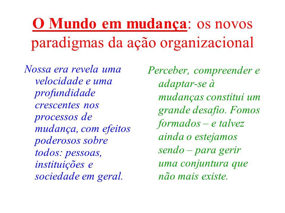 O Mundo em mudança: os novos paradigmas da ação organizacional