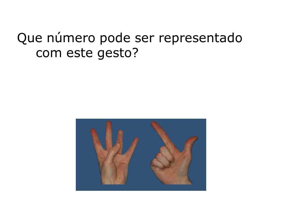 Que número pode ser representado com este gesto