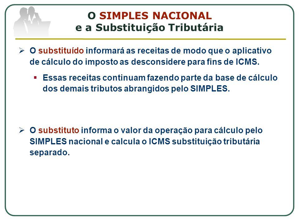 O SIMPLES NACIONAL e a Substituição Tributária