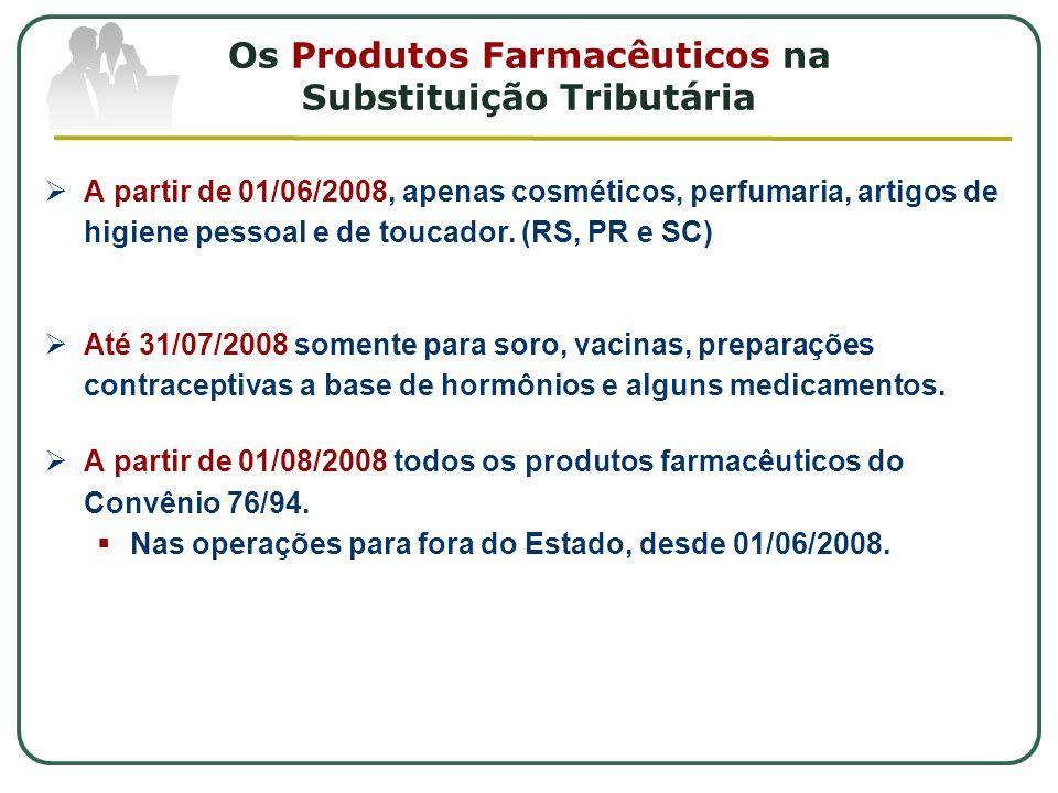 Os Produtos Farmacêuticos na Substituição Tributária