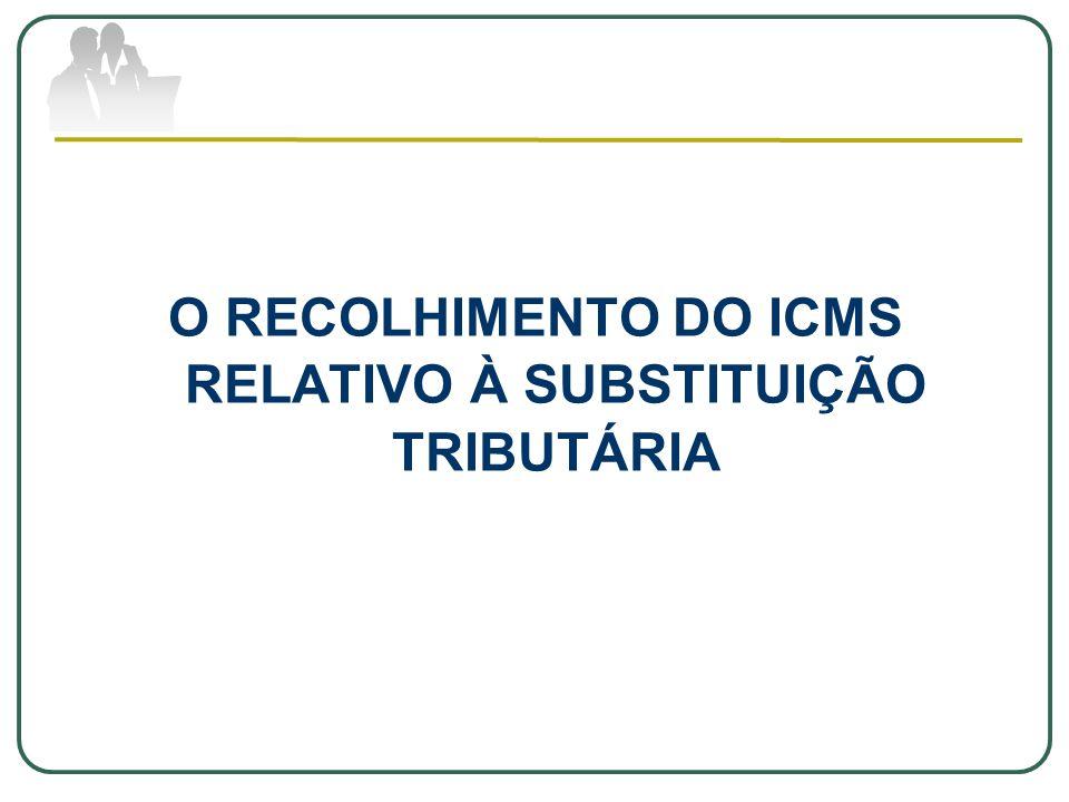 O RECOLHIMENTO DO ICMS RELATIVO À SUBSTITUIÇÃO TRIBUTÁRIA