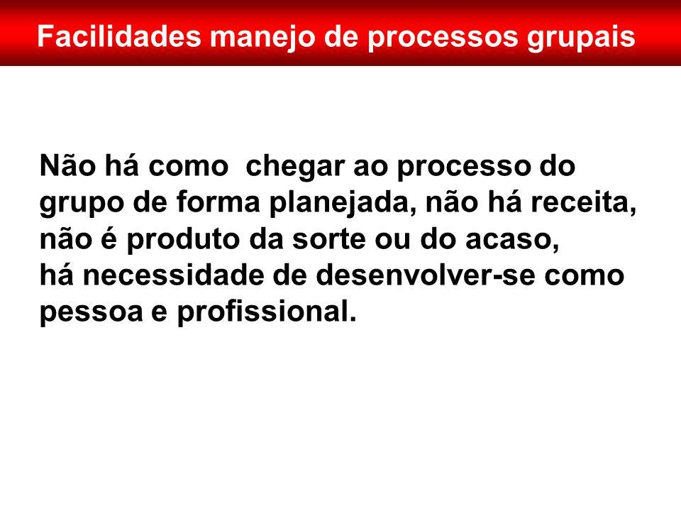 Facilidades manejo de processos grupais