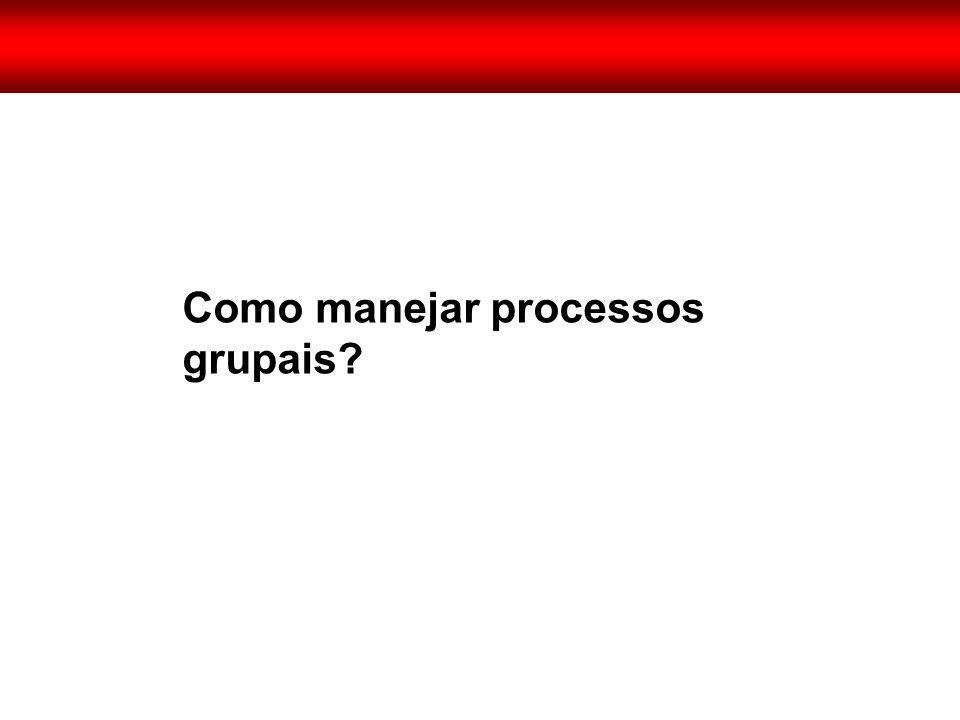 Como manejar processos grupais