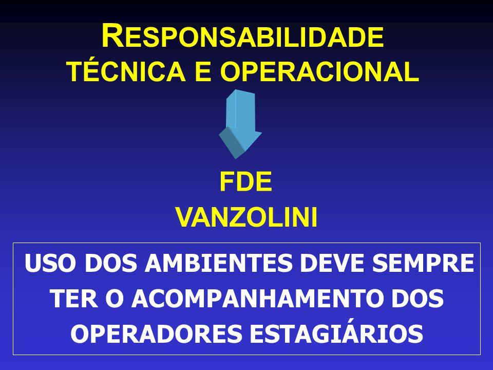 RESPONSABILIDADE TÉCNICA E OPERACIONAL FDE VANZOLINI