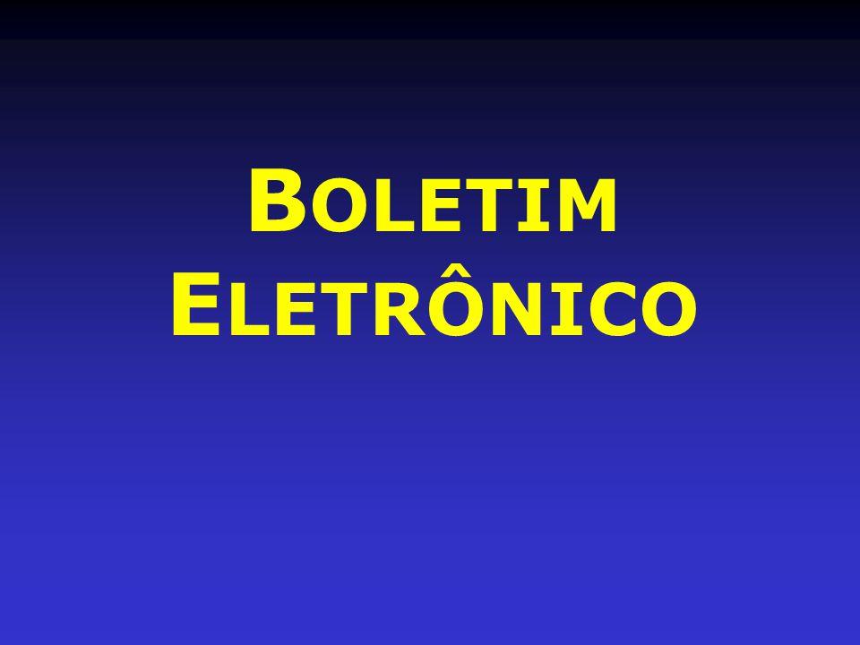 BOLETIM ELETRÔNICO