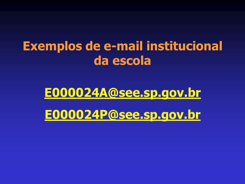 Exemplos de e-mail institucional da escola