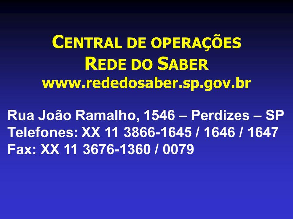 CENTRAL DE OPERAÇÕES REDE DO SABER