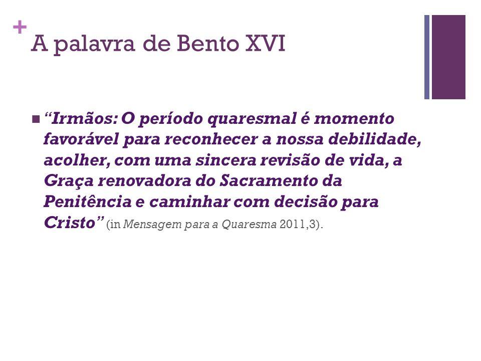 A palavra de Bento XVI