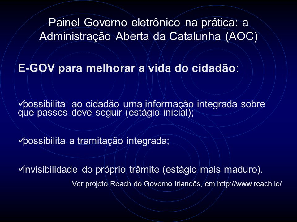E-GOV para melhorar a vida do cidadão:
