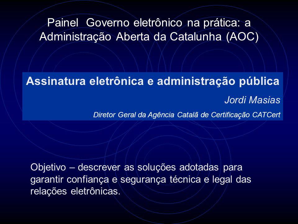 Assinatura eletrônica e administração pública