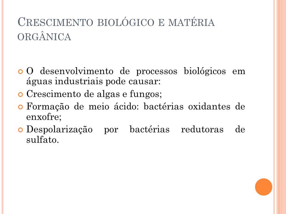 Crescimento biológico e matéria orgânica