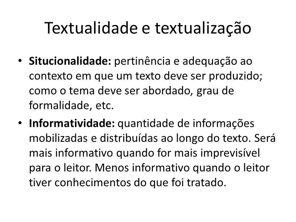 Textualidade e textualização