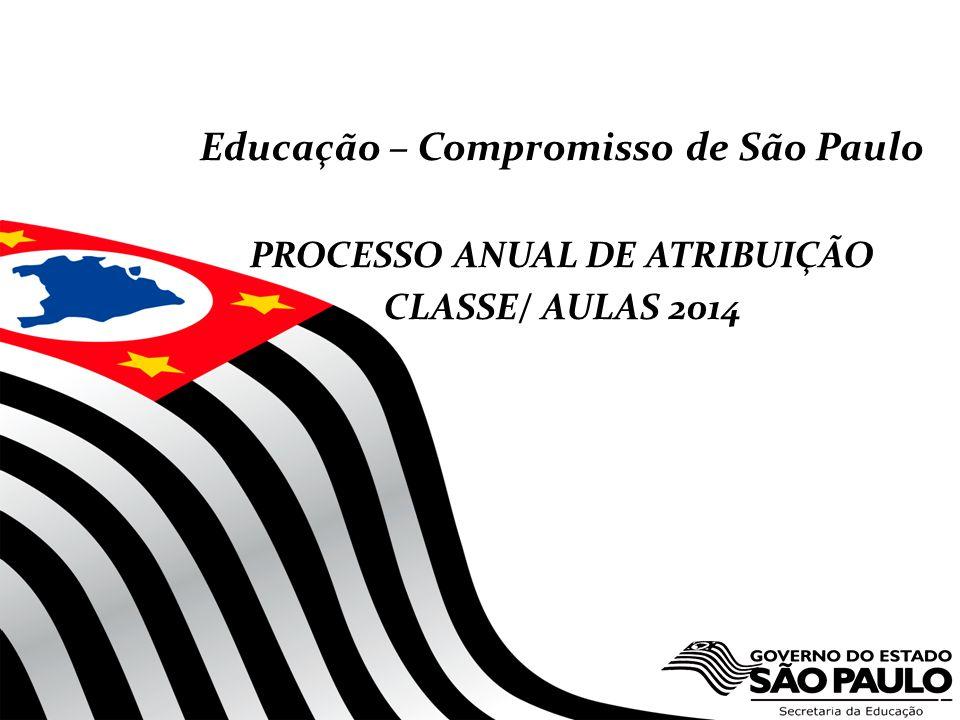 Educação – Compromisso de São Paulo PROCESSO ANUAL DE ATRIBUIÇÃO