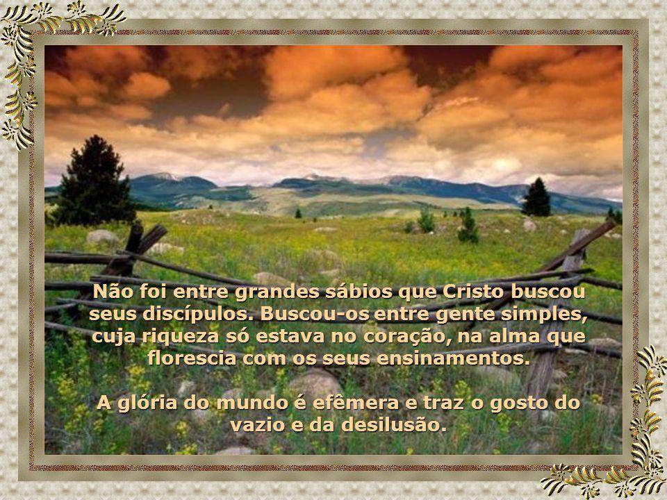 A glória do mundo é efêmera e traz o gosto do vazio e da desilusão.