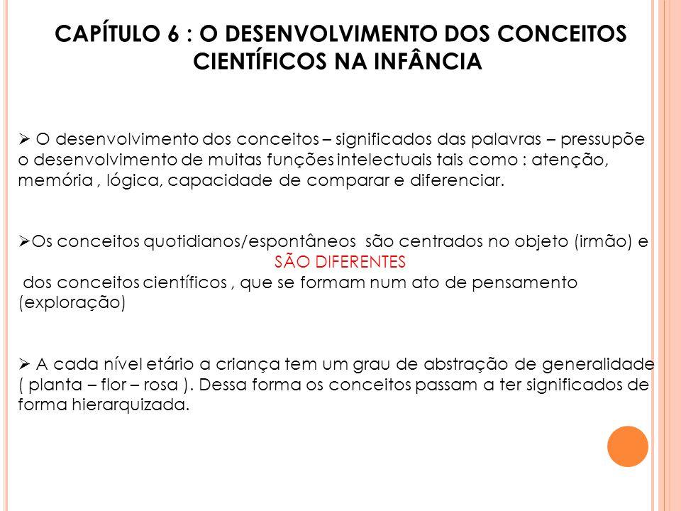 CAPÍTULO 6 : O DESENVOLVIMENTO DOS CONCEITOS CIENTÍFICOS NA INFÂNCIA