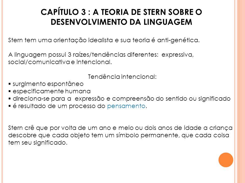 CAPÍTULO 3 : A TEORIA DE STERN SOBRE O DESENVOLVIMENTO DA LINGUAGEM