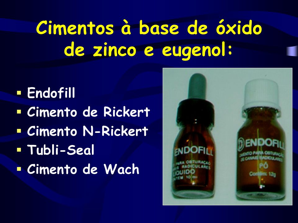 Cimentos à base de óxido de zinco e eugenol:
