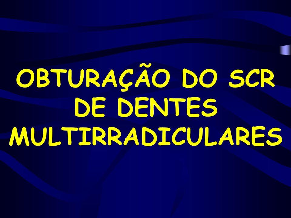 OBTURAÇÃO DO SCR DE DENTES MULTIRRADICULARES