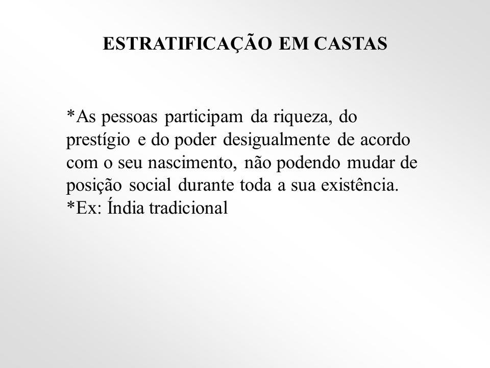 ESTRATIFICAÇÃO EM CASTAS