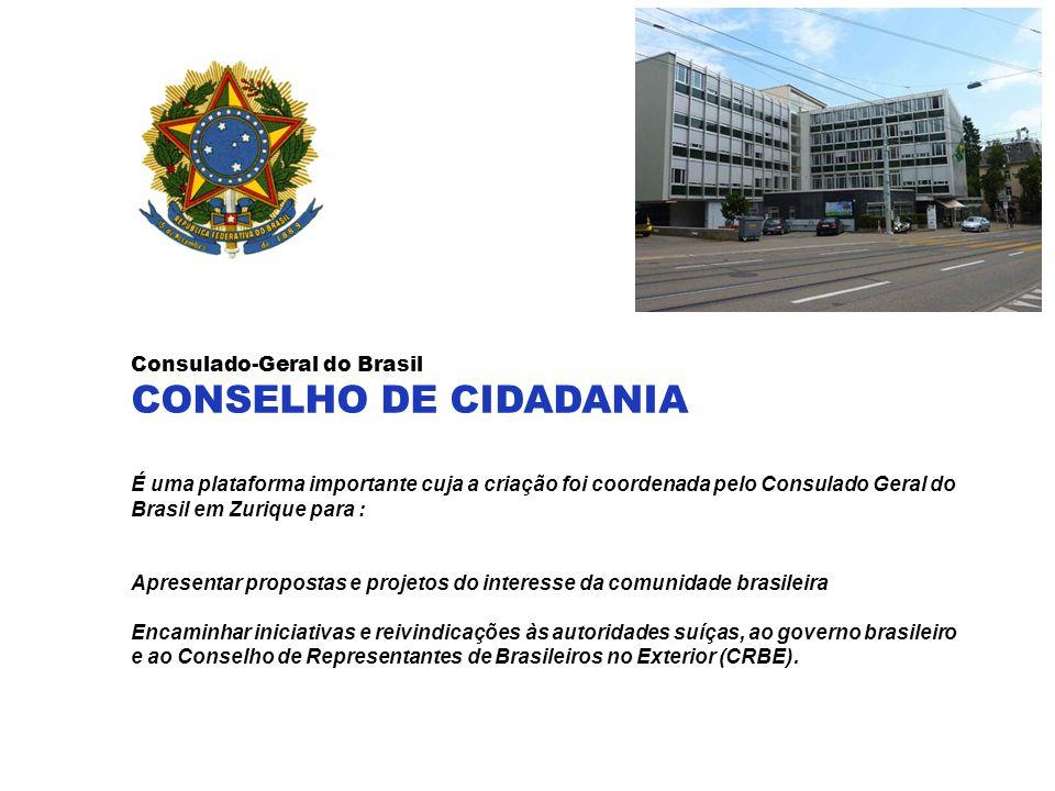 CONSELHO DE CIDADANIA Consulado-Geral do Brasil