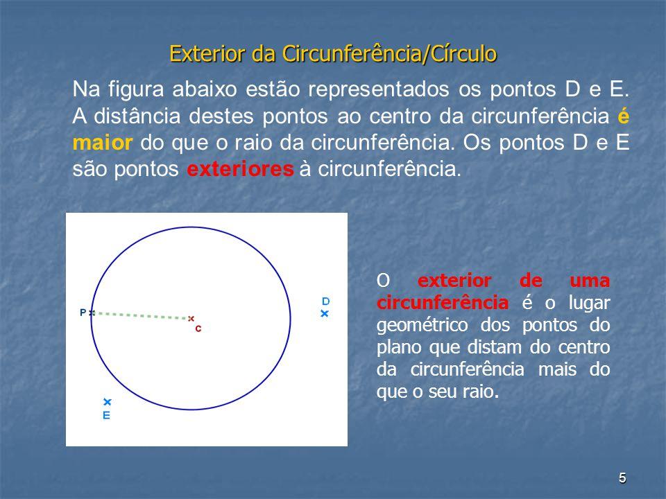 Exterior da Circunferência/Círculo
