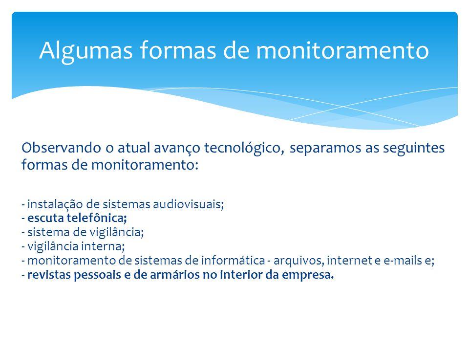 Algumas formas de monitoramento