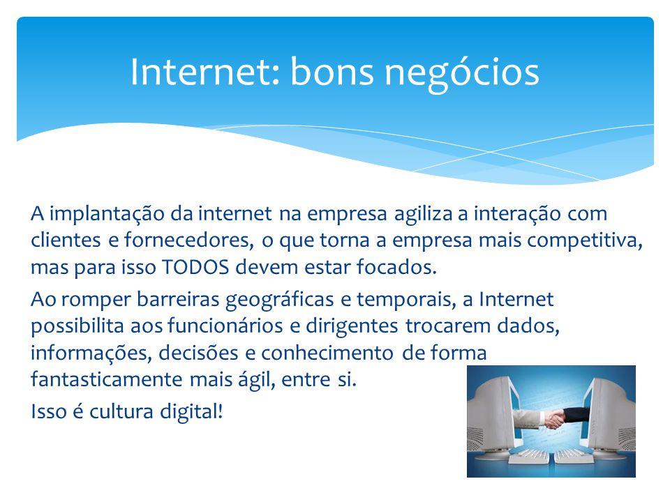 Internet: bons negócios