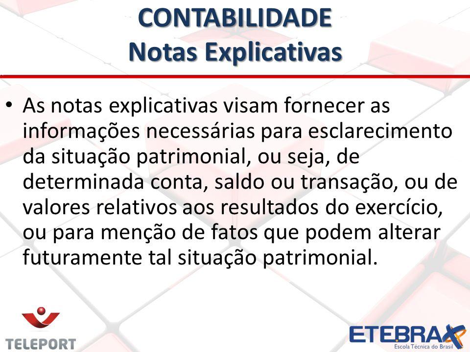 CONTABILIDADE Notas Explicativas