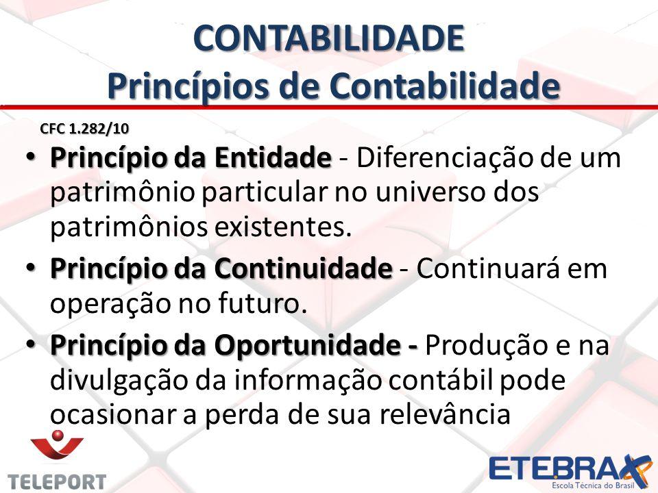 CONTABILIDADE Princípios de Contabilidade
