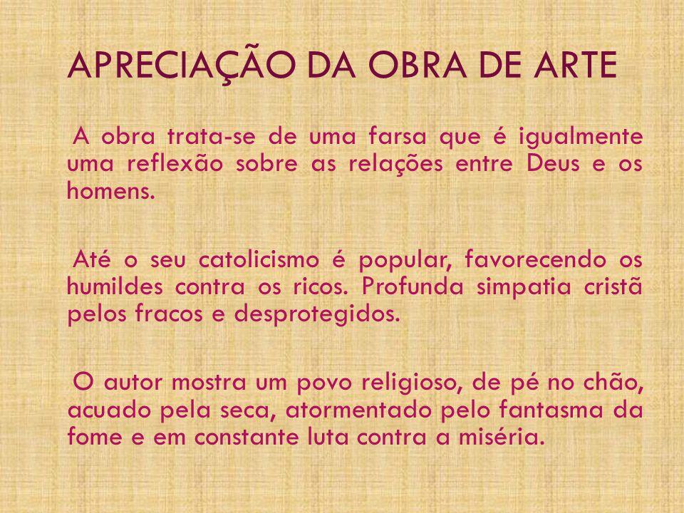 APRECIAÇÃO DA OBRA DE ARTE