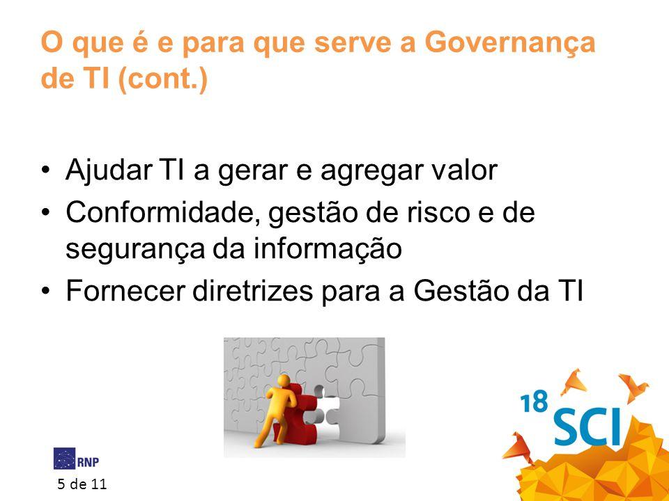 O que é e para que serve a Governança de TI (cont.)