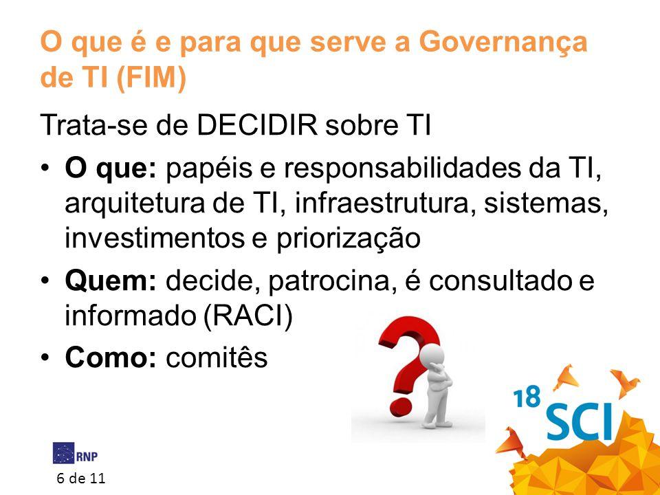 O que é e para que serve a Governança de TI (FIM)