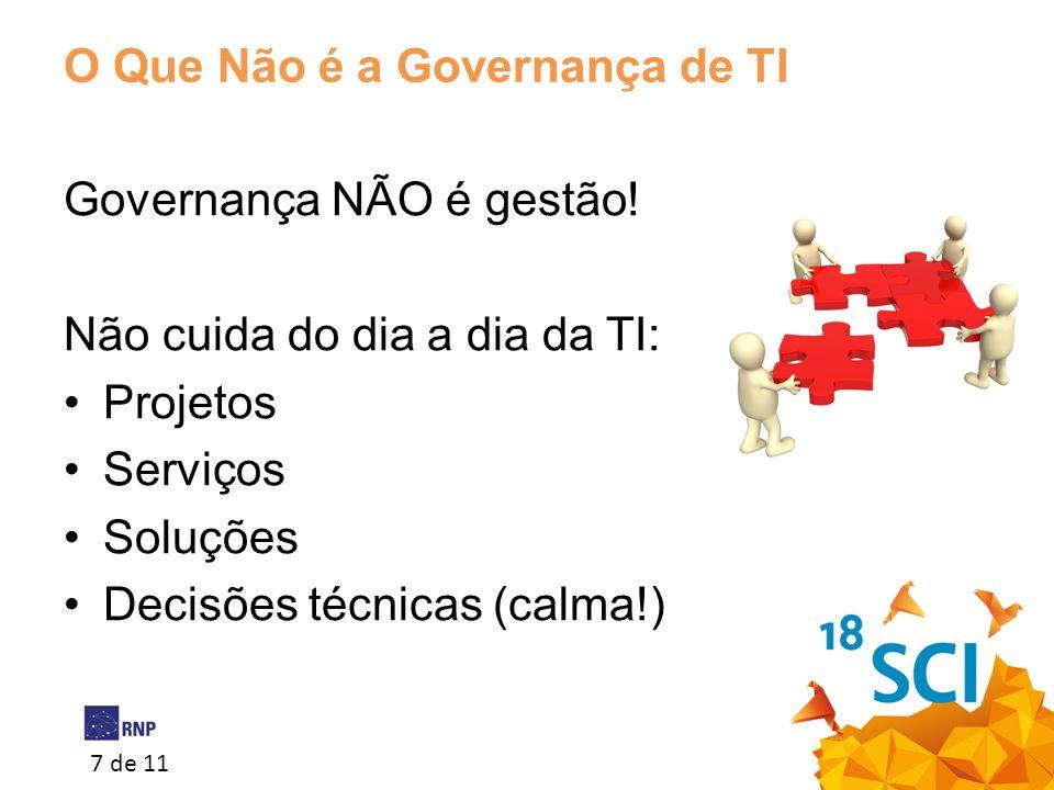 O Que Não é a Governança de TI