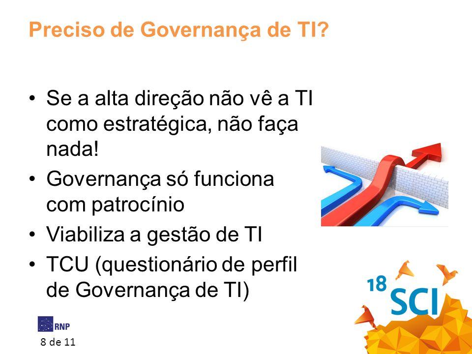 Preciso de Governança de TI