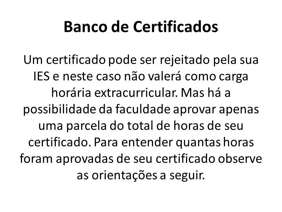 Banco de Certificados
