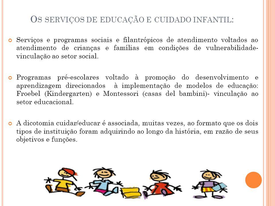 Os serviços de educação e cuidado infantil:
