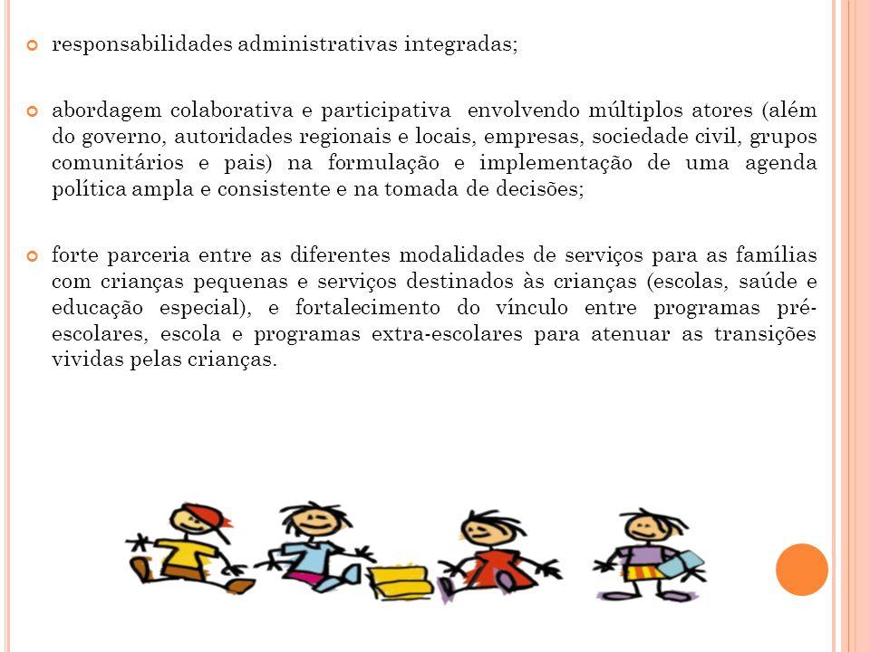 responsabilidades administrativas integradas;