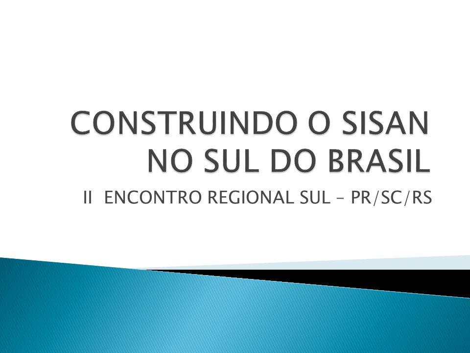 CONSTRUINDO O SISAN NO SUL DO BRASIL