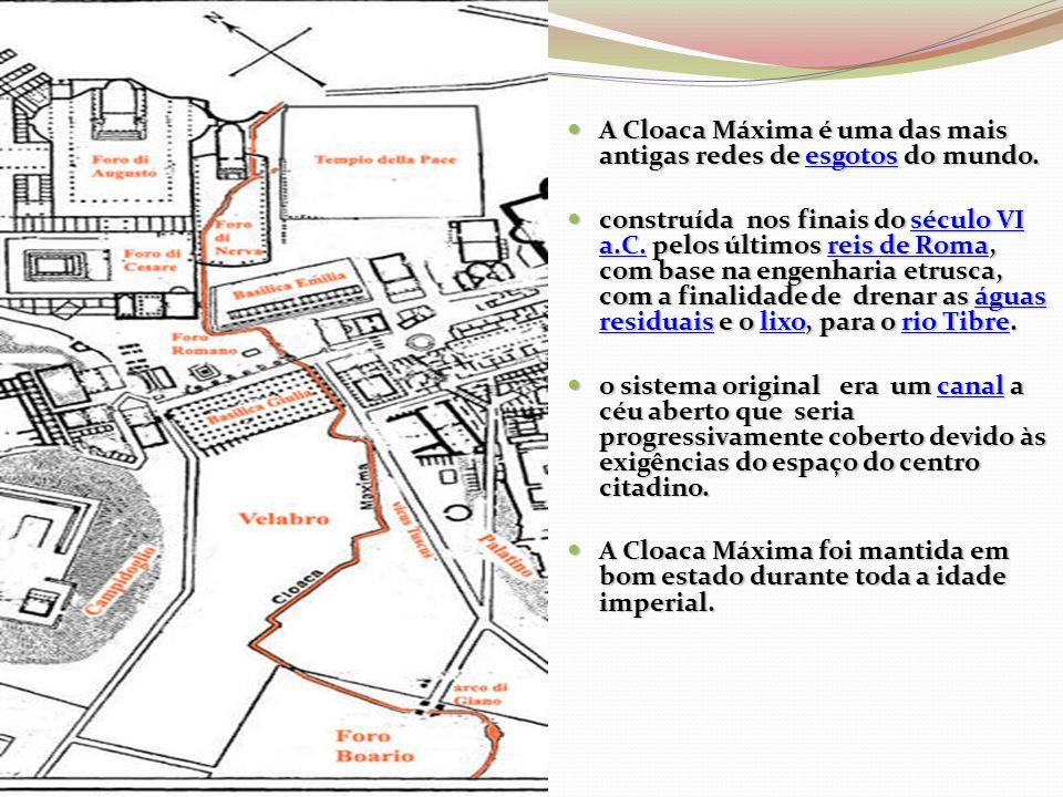A Cloaca Máxima é uma das mais antigas redes de esgotos do mundo.