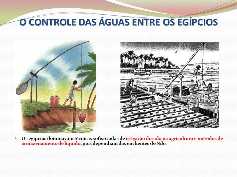 O CONTROLE DAS ÁGUAS ENTRE OS EGÍPCIOS