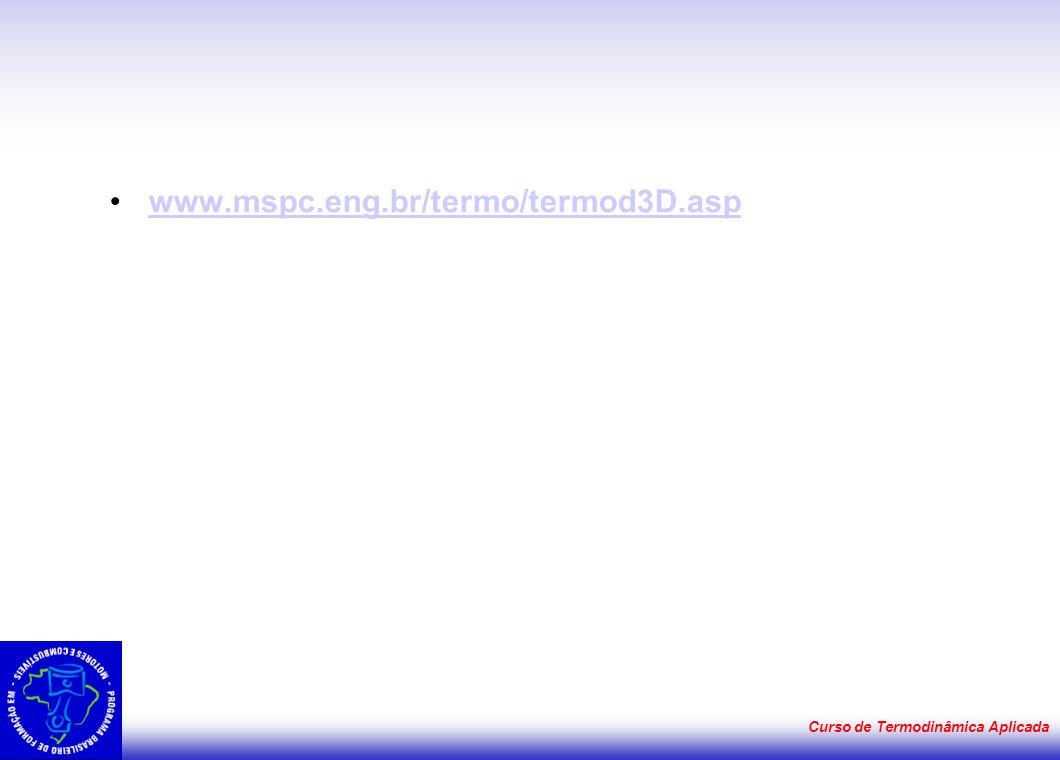 www.mspc.eng.br/termo/termod3D.asp Curso de Termodinâmica Aplicada