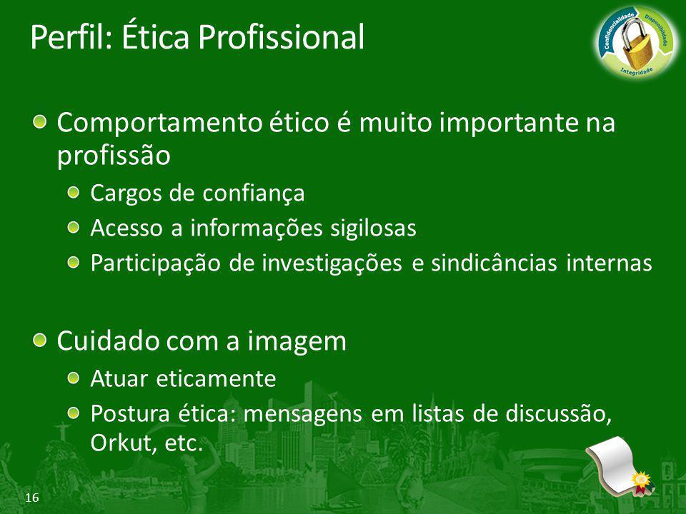 Perfil: Ética Profissional